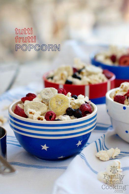 Tutti Frutti Popcorn (red, white & blue)