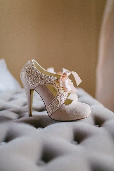 Vintage inspired wedding shoes.