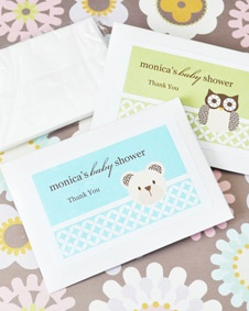 Baby Animals Personalized Tissue Packs www.BlueRainbowDe...