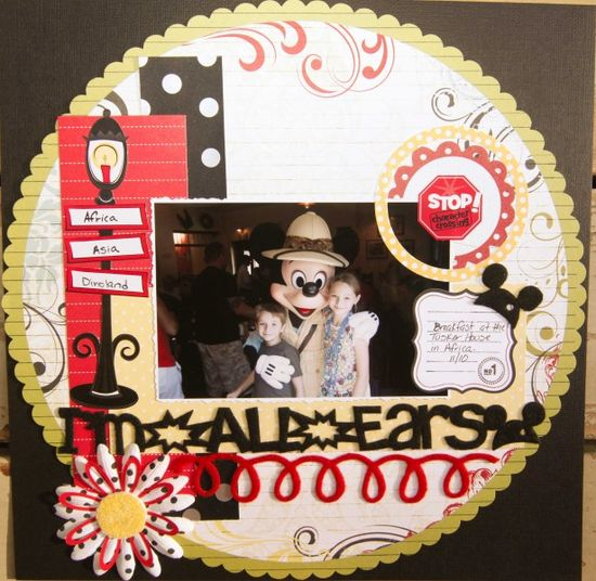 #papercraft #disney #scrapbook #layout disneyscrappers.n...