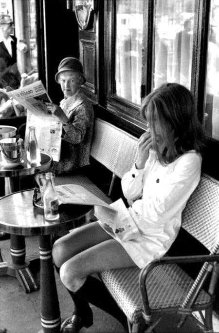 Paris 1969 Brasserie Lipp, photo Henri Cartier-Bresson