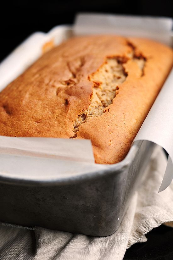 Peanut Butter Bread #Recipe from SheWearsManyHats.com