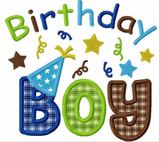 Birthday Boy  Applique Machine Embroidery Design NO:1165. $2.99, via Etsy.