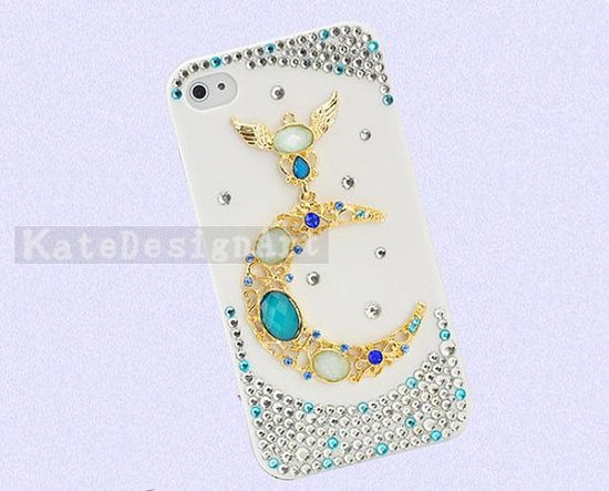 iphone 4 case, handmade iphone 4s cases bling bling iphone cover skin - moon god iphone 4s cases.Only $16.99