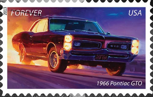 Postal Service Stamps Celebrate American Muscle Cars