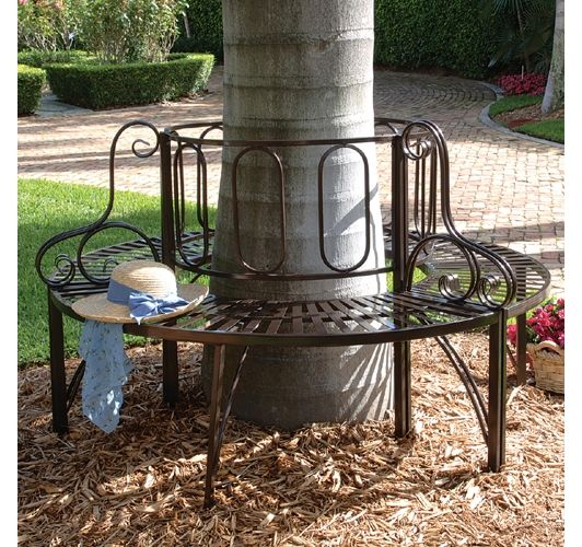 Roundabout Steel Garden Bench - Home and Garden Design Ideas