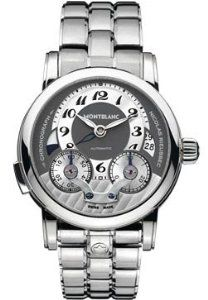 Montblanc Nicolas Rieussec Monopusher Chronograph Stainless Steel Mens Watch 102336