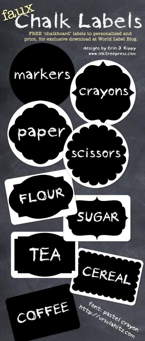Free chalkboard labels!!