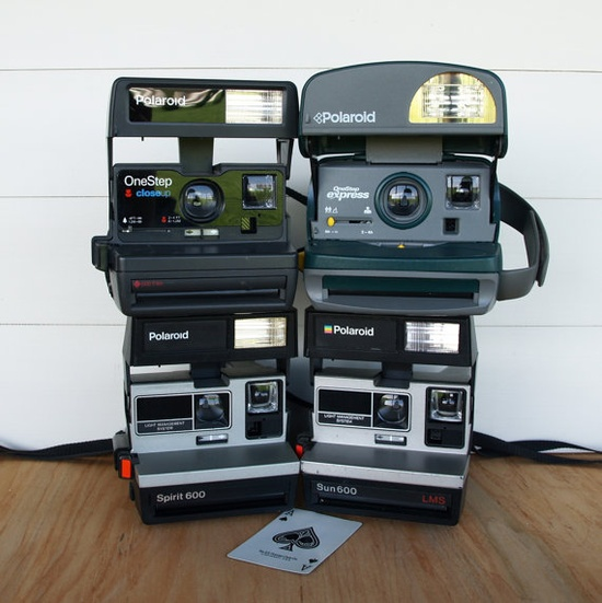 VINTAGE Camera Collection // Polaroid land camera one step Spirit Sun Express