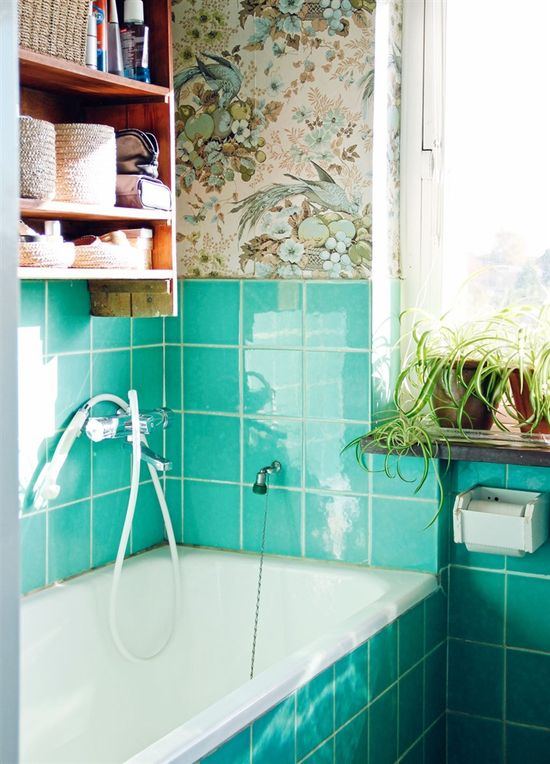 bathroom.  love the tile
