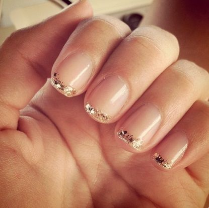 #sparkle #glitter #french manicure | #wedding #nails