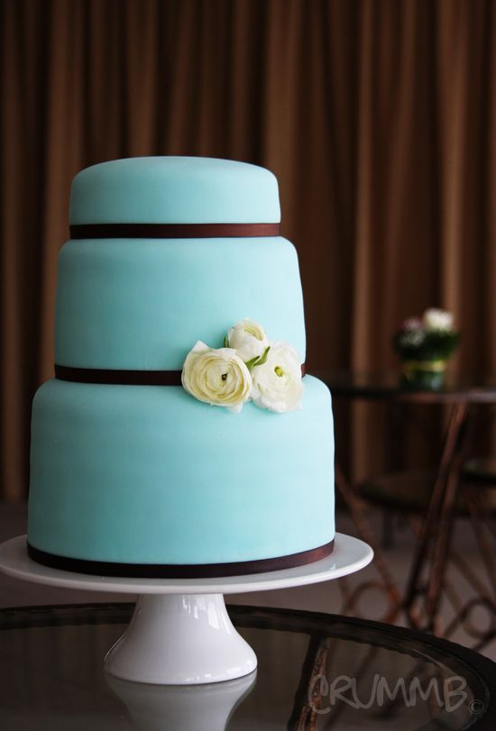 teal cake