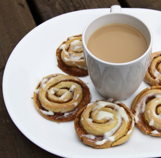 Cinnamon roll cookies..I will make these soon.