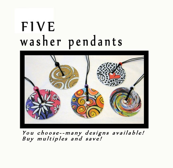 Painted Washer jewelry**Great ideas for how to paint our washers!