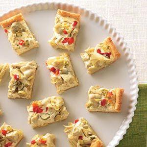 Artichoke Crescent Appetizers... sounds pretty easy!