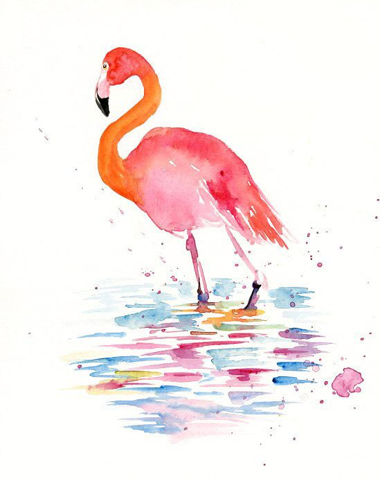 FLAMINGO Special Edition Print via Etsy