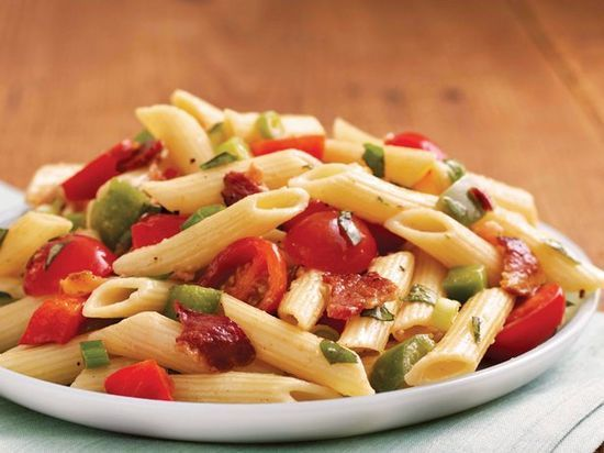 Perfect for a potluck, picnic or any time you're serving a crowd, this big batch of pasta salad can be prepared in just 25