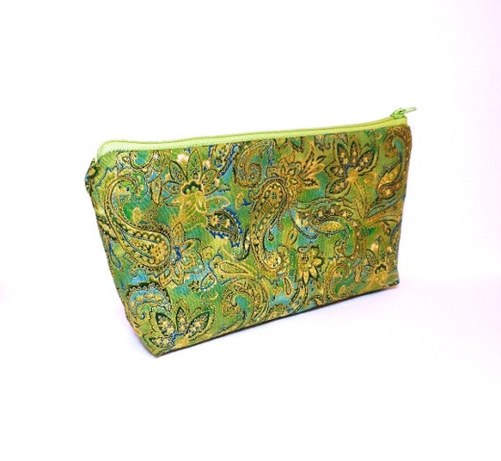 Fabric Pouch Medium Pouch Zipper Pouch by handjstarcreations, $11.50