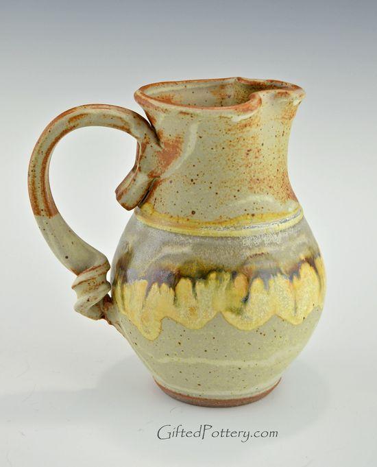 Handmade Pottery Water / Milk Pitcher Southwest Glaze