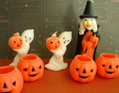 vintage halloween gurley candles- LOVED these as a kid