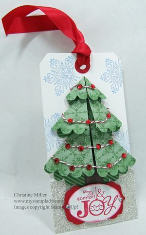 12 Tags of Christmas, scallop circle Christmas #handmade gifts #creative handmade gifts