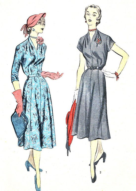 1940s Dress Pattern Advance 5737 Day or Evening by paneenjerez, $35.00