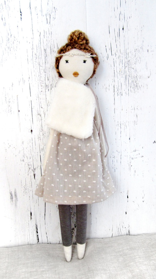 Handmade cloth doll, Etsy