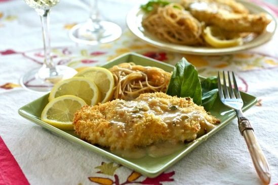 Baked Chicken Piccata...  Sooooo yummy!   I could eat this every other night!!!!