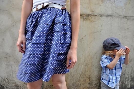 Pintuck skirt tutorial