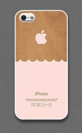 Wooden Waves iPhone Case by Evon Case.