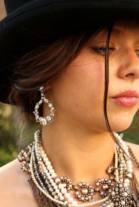 pearls and vintage necklaces