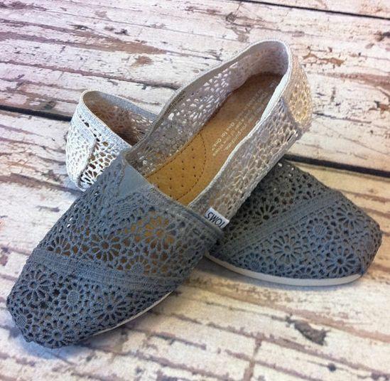 Dip Dye Crochet Ombre TOMS Shoes!