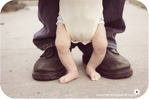 cute baby & daddy photo
