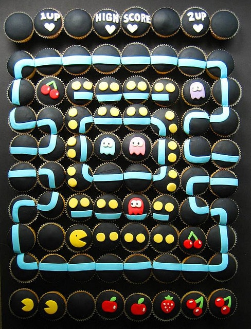 Pac Man Cupcakes