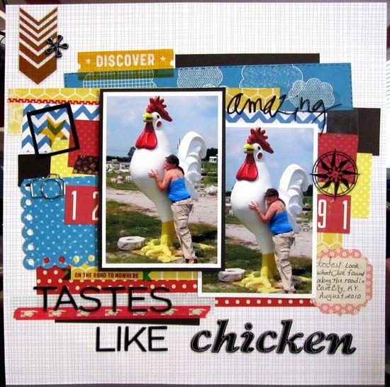 #papercraft #scrapbook #layout Tastes Like Chicken - Scrapbook.com