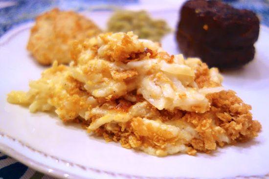 Lightened Up Cheesy Potato Casserole {Greek Yogurt}
