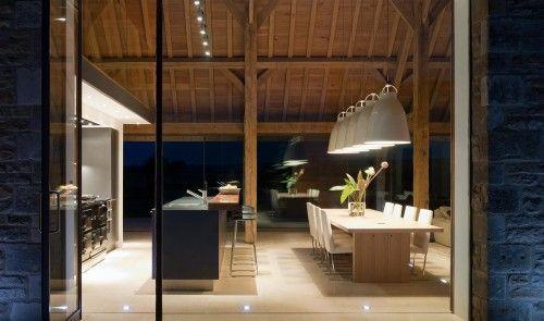 innovative barn house conversion modern kitchen interior