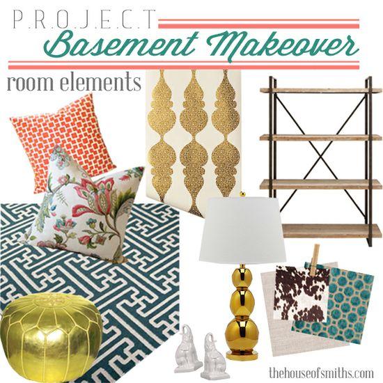 Basement Makeover House of Smiths #decor #basement #makeover