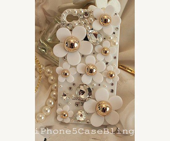 iphone 5c case, iphone 5s case, iphone 5c cover, flower iphone 5c case, cute iphone 5c case, bling iphone 5c case, iphone 5s case daisy