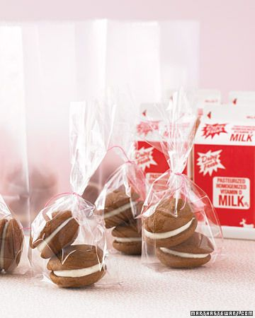 Give wedding guests a childhood favorite to take home: milk and cookies!
