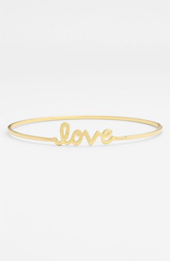Ariella Collection 'Messages - Love' Script Station Bangle available at Nordstrom