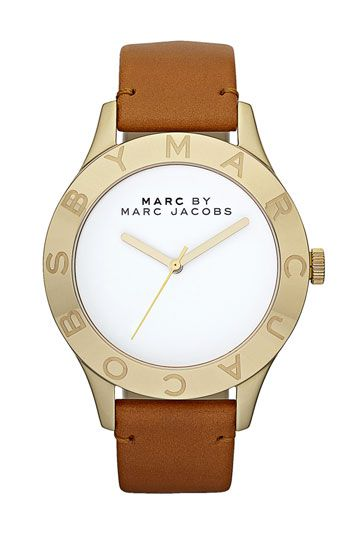 MARC BY MARC JACOBS 'Large Blade' Leather Strap Watch available at #Nordstrom
