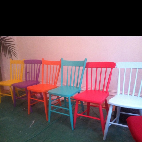 Home colored vintage chairs