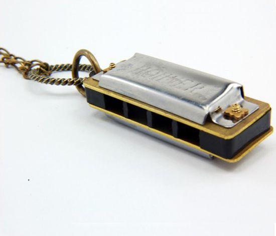 Tiny Harmonica Necklace