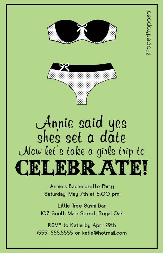 Lingerie Ladies Night Bachelorette Party Invite @Ashley