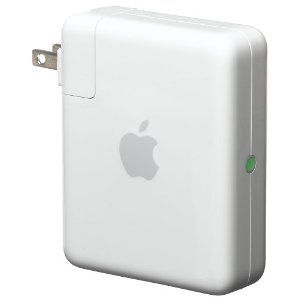 Airport Express by Apple: powerful enough to run a home Wi-Fi network, small enough to take on the road. Share your network with up to 10 users. $99.