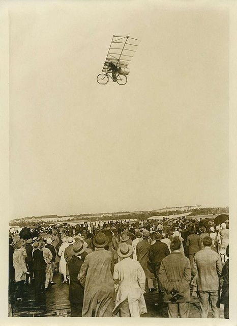 Flying Bike Photo Montage, via Flickr.