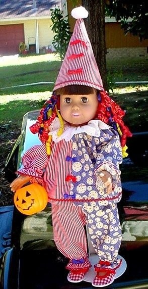 Clown Outfit Costume For AMERICAN GIRL DOLL by jeansdollyshop, $18.00