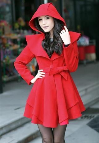 Super Cute Thick and warm woolen Coat Dress