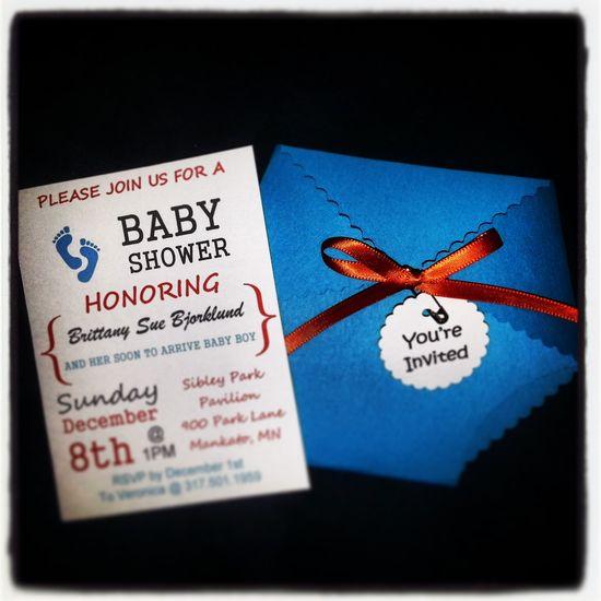 Baby Boy Shower Invites!